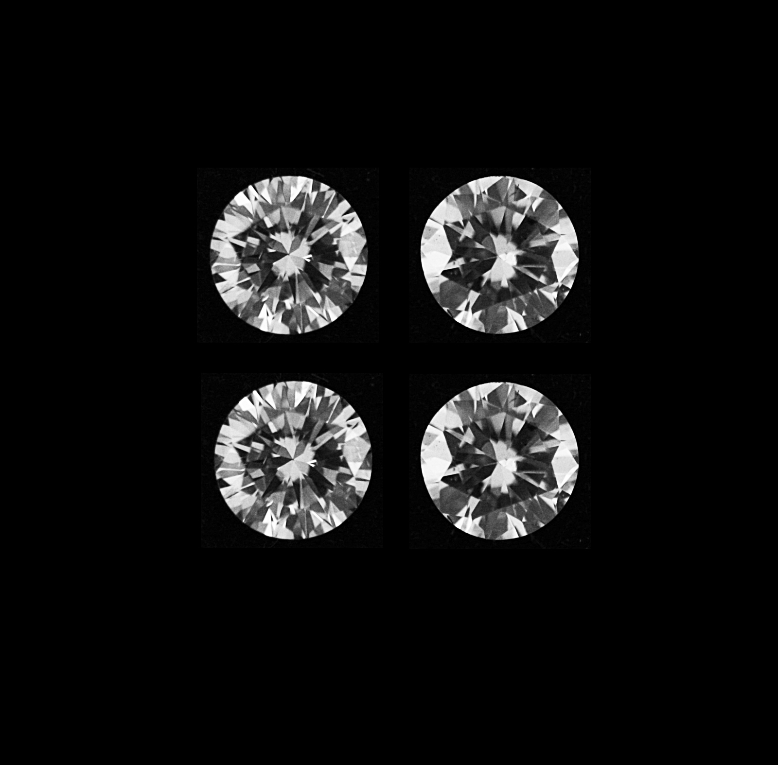 100/% Natural White Diamond Loose 0.20CT 4//Pcs Round Shape With Certificate