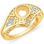 0.20 CT Round Diamond Setting Engagement Ring 14k Yellow Gold