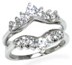 0.70 CT Round Diamond Engagement Ring 14K White Gold