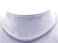1 1/2 CT Round Diamond Tennis Necklace 18k White Gold