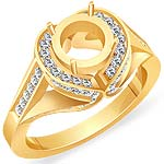 0.80 CT Round Setting Diamond Engagement Ring 14k Yellow Gold