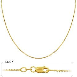 2gm 14k Yellow Gold Light Weight Rolo Chain 16 inch 1.20 m