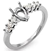 1/4 CT Round Semi Mount Diamond Engagement Ring 14K White Gold