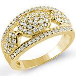 3/4 CT Round Diamond Fashion Anniversary Band Ring 14k White Gold