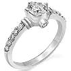 0.65 Ct Round Diamond Engagement Ring 14K White Gold