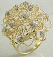 8 Gm 14K Yellow Gold CZ Stone Lady Fashion Ring