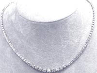 2 1/2 CT Round Diamond Tennis Necklace 18K White Gold