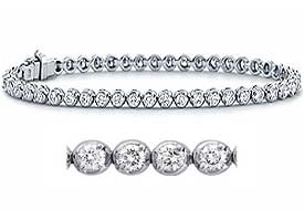 1.60 CT Round Diamond Tennis Bracelets 18K White Gold