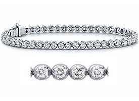 1.60 CT Round Diamond Tennis Bracelets 18K White Gold