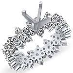 2.25 CT Round Diamond Eternity Engagement Ring 14K White Gold