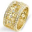 3/4 CT Round Diamond Eternity Anniversary Band Ring 14k Yellow Gold