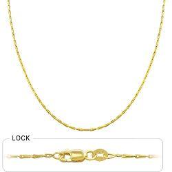 1.9 gm 14k Yellow Gold Granada Chain 16 inch (1.30 mm)