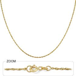 1.8gm 14k Solid Yellow Gold Singapore Chain 16 inch