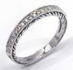 1/4 CT Round Diamond Eternity Wedding Band Ring 14K White Gold