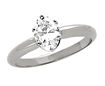 0.35 CT Oval Solitaire Engagement Diamond Ring 14K White Gold G,SI2