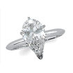 0.70 CT Pear Solitaire Diamond Engagement Ring 14K White Gold H SI1