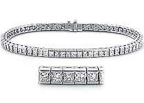 5.00 CT Princess Diamond Tennis Bracelet 14k White Gold
