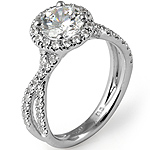 1.23Ct Round Women's Diamond Wedding Engagement Ring 14k White Gold
