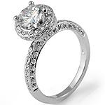 1.73Ct Natural Round Diamond Women's Wedding Engagement Ring 14k White Gold