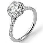 1.08Ct Brilliant Round Women's Diamond Wedding Engagement Ring 14k White Gold