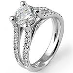 1.23Ct Women's Natural Round Diamond Wedding Engagement Ring 14k White Gold