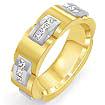 1 CT Princess Men's Eternity Wedding band Ring 14K 2Tone Gold