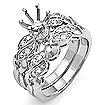 0.30 CT Round Diamond Engagement Bridal Set Ring 18K Gold