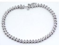 1.30 CT Round Diamond Tennis Bracelet 14k White Gold