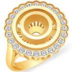 1/4 CT Round Diamond Setting Engagement Ring 14K Yellow Gold