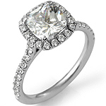 1.50Ct Cushion Diamond Wedding Engagement Bridal Ring 14k White Gold