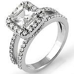 1.75Ct Women's Princess Diamond Wedding Engagement Ring 14k White Gold