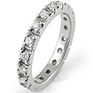 0.50Ct Round Diamond Anniversary Eternity Wedding Ring 14K White Gold