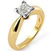 0.40 CT Princess Diamond Engagement Ring 14K Yellow Gold