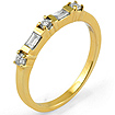 1/2 CT Baguette Round Diamond Wedding Band Ring 14K Yellow Gold