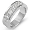 1 Ct Princess Bagguettes Diamond Wedding Band 14K White Gold