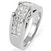 1.25 CT Princess Diamond Engagement Ring 14k White Gold