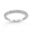 1/4 CT Round Diamond Wedding Band Ring 14K White Gold