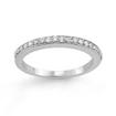 1/4 CT Round Diamond Wedding Band Ring 14K White Gold