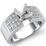0.60 Ct Round Diamond Engagement Ring Setting 14K White Gold
