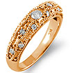 0.30Ct Round Diamond Wedding Bridal Band Ring 14k Rose Gold