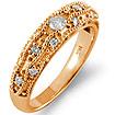 0.30Ct Round Diamond Wedding Bridal Band Ring 14k Rose Gold