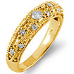 0.30Ct Round Diamond Wedding Bridal Band Ring 14k Yellow Gold