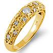 0.30Ct Round Diamond Wedding Bridal Band Ring 14k Yellow Gold