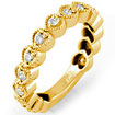 0.30Ct Round Bridal Wedding Anniversary Band Ring 14k Yellow Gold