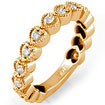 0.30Ct Round Bridal Wedding Anniversary Band Ring 14k Rose Gold