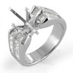 1.50Ct Princess Setting Wedding Engagement Diamond Ring 14k White Gold