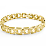 3/4 CT Round Mens Diamond Bracelet 14k Yellow Gold