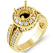 3/4 CT Round Diamond Setting Engagement Ring 14K Yellow Gold