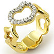 0.25Ct Round Diamond Heart Style Anniversary Band Ring 14k Yellow Gold