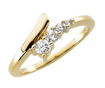 0.30 CT Round Diamond Journey Right Hand Ring 14K Yellow Gold